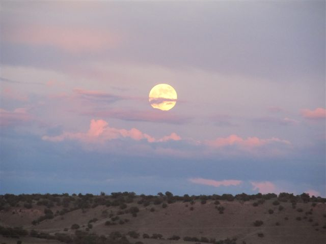 Moon over New Mexico