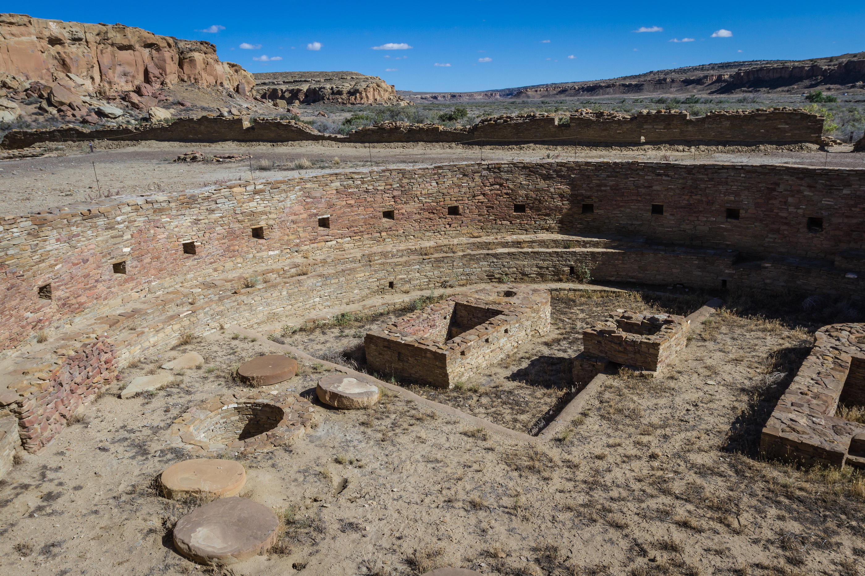 Kiva in Chaco Canyon National Historic Park in New Mexico